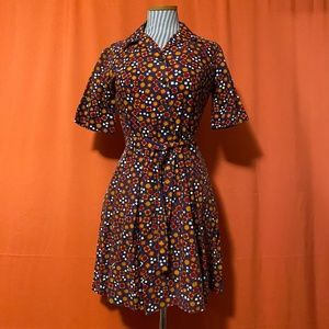 1960s Lois Young Belted A-Line Dress